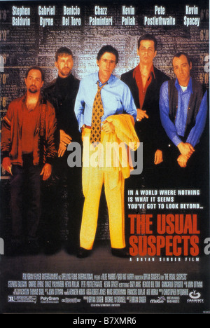 The Usual Suspects  Year: 1995 USA / Germany Gabriel Byrne, Benicio Del Toro, Kevin Spacey, Kevin Pollak, Stephen - Stock Photo