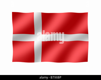 Denmark Danish Flag - Stock Photo