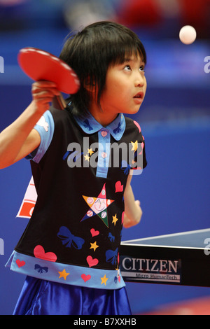 Miu Hirano JANUARY 14 2009 Table Tennis All Japan Table Tennis Championships Womens Junior at Tokyo Metropolitan - Stock Photo