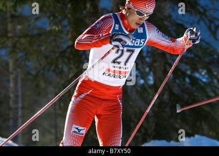 Norihito Kobayashi JPN JANUARY 17 2008 Nordic Combined DKB FIS Nordic Combined World Cup Individual Gundersen HS140 - Stock Photo