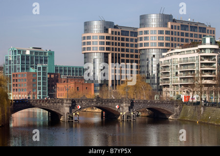 River Spree with Federal Ministry of the Interior Berlin - Stock Photo