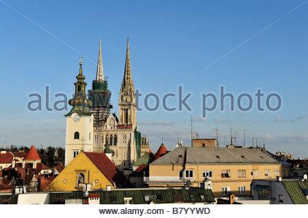 St Stephen cathedral Zagreb Croatia - Stock Photo