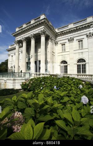 Marble House, Vanderbilt Mansion, Newport, Rhode Island, USA - Stock Photo