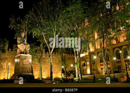 statue in park central baku azerbaijan - Stock Photo