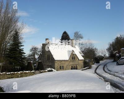 House in Little  Barrington, Oxfordshire - Stock Photo