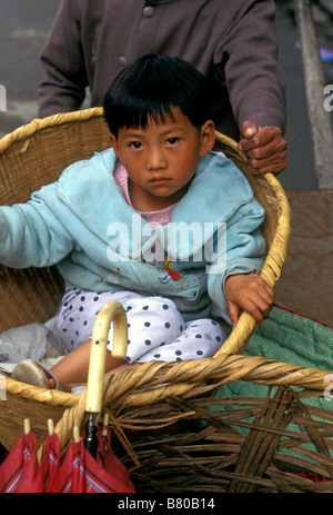 1, one, Chinese girl, Chinese, girl, young girl, Bai people, Bai ethnicity, ethnic minority, young girl, child, - Stock Photo