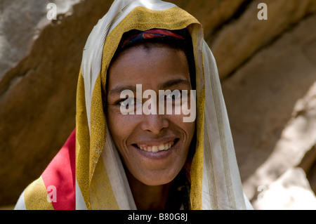 Young muslim woman in Sof Omar wearing a veil Ethiopia Africa - Stock Photo