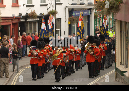 The Builth Wells branch of the British Legion Celebrate their 25th Anniversary Builth Wells Powys Mid Wales Great - Stock Photo
