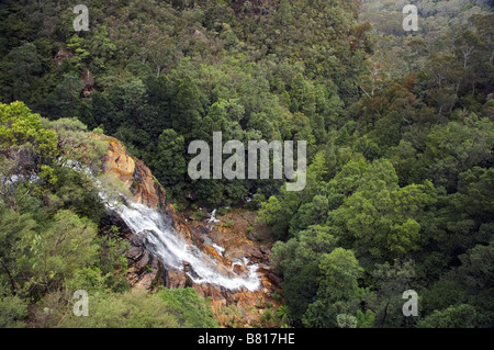 Bridal Veil Falls Leura Falls Blue Mountains New South Wales Australia - Stock Photo
