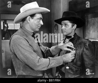 The Duel at Silver Creek  Year: 1952 USA Director: Don Siegel Audie Murphy, Stephen McNally - Stock Photo