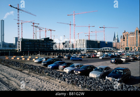 Feb 6, 2009 - Construction site of the future Hafenquartier next to Maritime Musuem in Hamburg's Hafencity. - Stock Photo