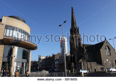 Overgate shopping Centre and Meadowside St Pauls Dundee Scotland  January 2009 - Stock Photo