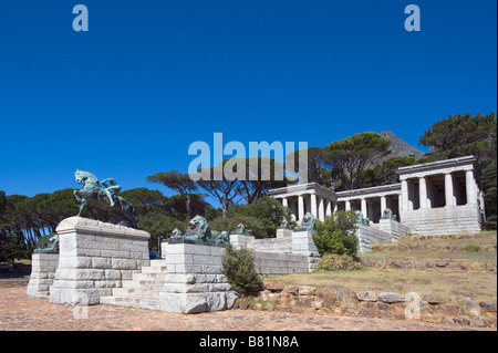 Rhodes Memorial Cape Town Western Cape -  Rhodes (1853-1902) was a businessman, mining magnate and politician - Stock Photo