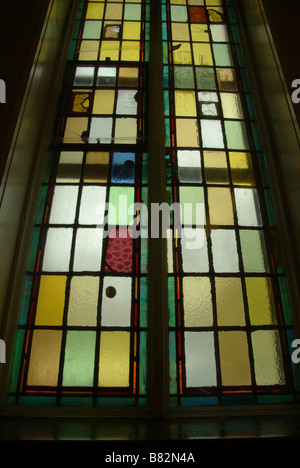 Stain Glass window at the Church - Stock Photo