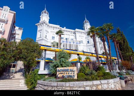 Exterior architecture of the Admiral Casino in Opatija Croatia - Stock Photo