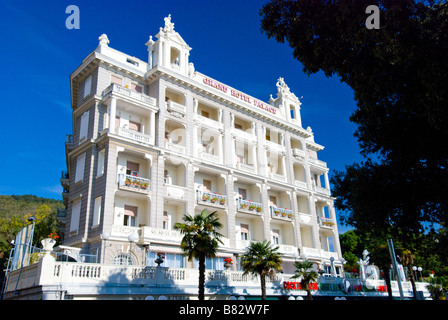 Exterior architecture of the Grand Hotel Palace in Opatija Croatia - Stock Photo