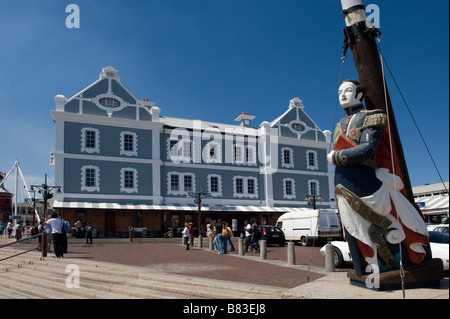 Galleon at The African Trading Post building on the Victoria and Alfred waterfront in Cape Town South Africa - Stock Photo