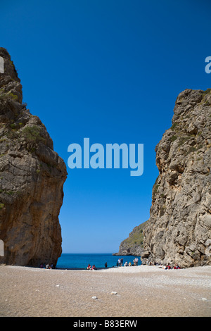 Beach, Torrent de Pareis, Sa Calobra, Mallorca, Spain - Stock Photo