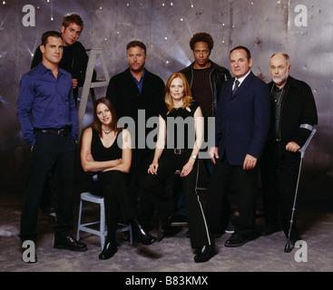 CSI: Crime Scene Investigation  TV Series 2000 - 2015 USA 2004 season 4 George Eads, Eric Szmanda, Jorja Fox, William - Stock Photo