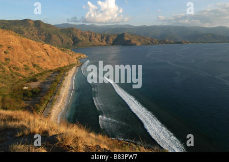 A view of the coastline near Dili East Timor - Stock Photo