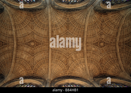 'Kings College Chapel' ceiling detail. Cambridge University, Cambridge, UK. - Stock Photo