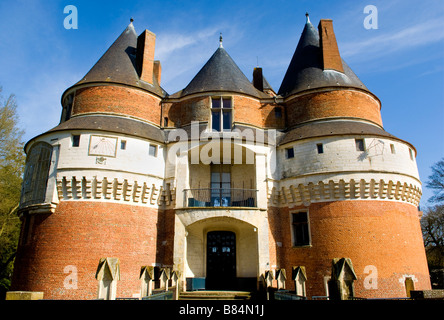 Chateau Fort de Rambures a 15th century feudal fortress in Picardy, France - Stock Photo