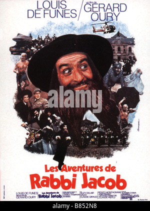 Les Aventures de Rabbi Jacob The Mad Adventures of 'Rabbi' Jacob Année : 1973 France / Italy affiche, poster Louis - Stock Photo