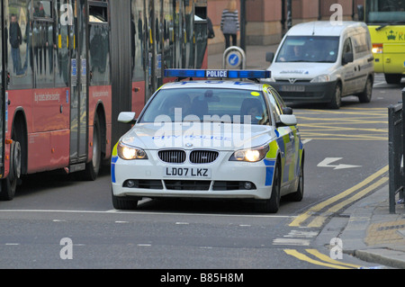 City police car London United Kingdom - Stock Photo