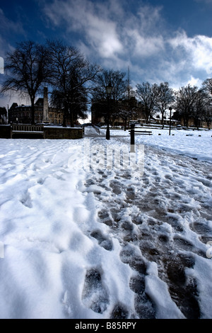 The big snow, February 2009, Montpellier Parade, Harrogate, North Yorkshire, England - Stock Photo