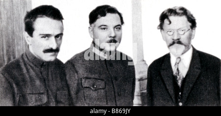 Kalinin with Vorochilov and Mikoyan - Stock Photo