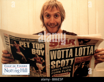 Notting Hill Year : 1999 - UK / USA Rhys Ifans  Director : Roger Michell - Stock Photo
