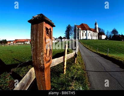 Wieskirche Church Allgau Bavaria Germany - Stock Photo