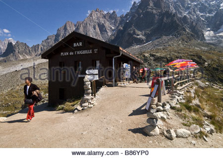 Chamonix: bar, Plan de l'Aiguille - Stock Photo