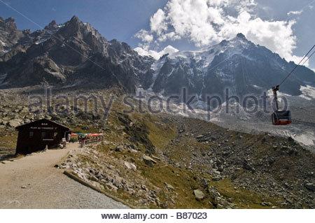 Chamonix: Plan de l'Aiguille - Stock Photo