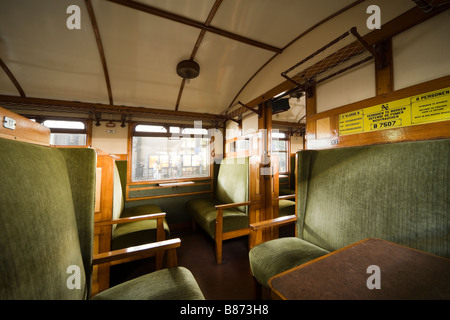 Interior of a Dutch International early 20th century railway carriage, made 1923 in Haarlem by Beynes. Second 2nd - Stock Photo