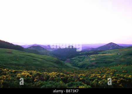 View from Croix de Boutieres - Stock Photo