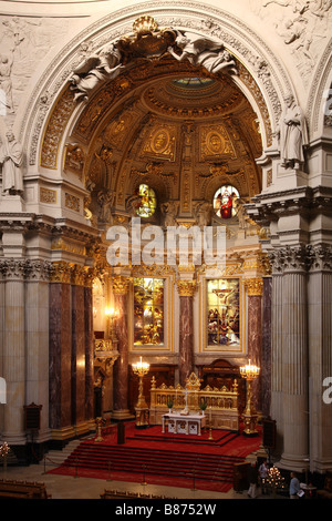 Berlin Berliner Dom Cathedral - Stock Photo