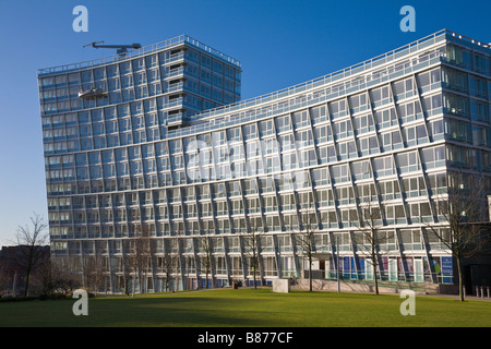 Apartment Block, One Park West, 'Liverpool ONE', Merseyside, England - Stock Photo