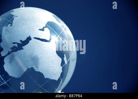 Blue glass globe high resolution image - Stock Photo