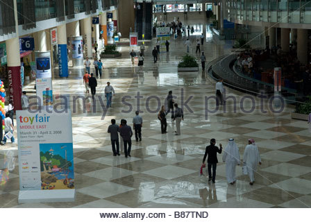 Dubai : inside the WORLD Trade exibiton center - Stock Photo