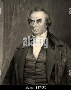Daniel Webster, 1782 to 1852. American lawyer, Senator, Secretary of State and orator - Stock Photo
