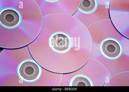 Pile of colorful DVD discs - Stock Photo