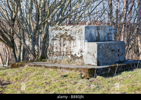 Royal Observer Corps Post entrance shaft - Stock Photo