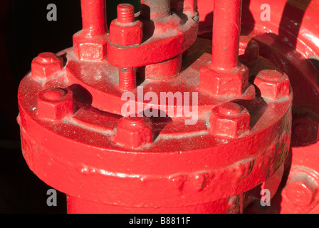 'Steam engine' Bolted Flange on a 1927 'Drop Valve Gear' engine - Stock Photo