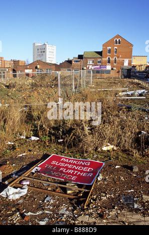Brownfield Urban Wasteland Awaiting Development In Hanley Stoke-on-Trent - Stock Photo