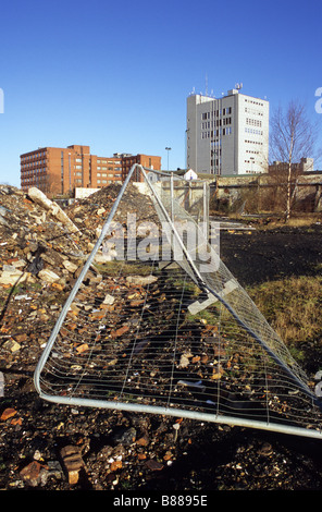 Demolished Buildings And Urban Wasteland Awaiting Development In Hanley Stoke-on-Trent Staffordshire - Stock Photo