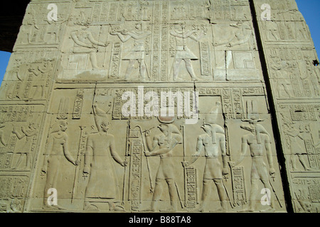 Hieroglyphs,Relief carvings,Kom Ombo Temple,Egypt. - Stock Photo