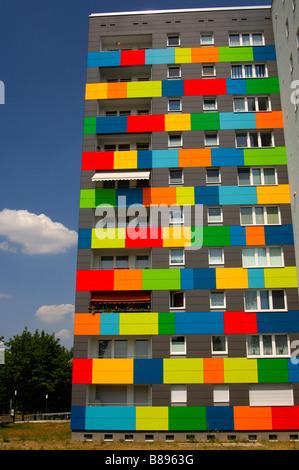 Colourful Facade Design Dresden Saxony Stock Photo Alamy