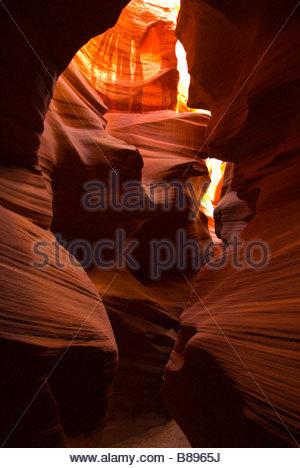 Secret Canyon slot canyon near Page Arizona USA - Stock Photo