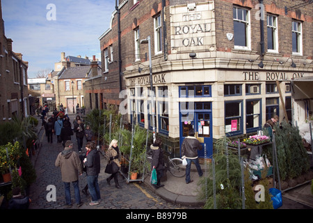 columbia road in east london - Stock Photo